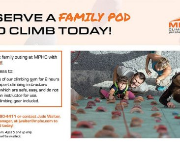 Climbing Gym Family Pods at Manhattan Plaza Health Club New York City