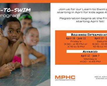 Learn to swim program at Manhattan Plaza Health Club