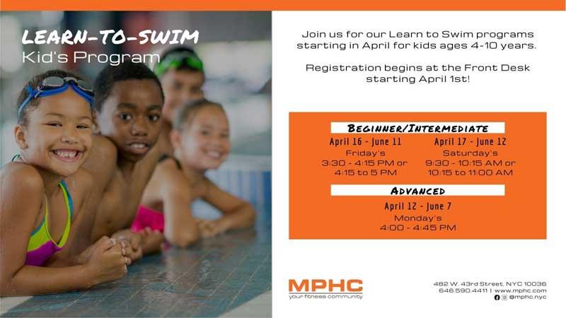 Learn to swim program at Manhattan Plaza Health Club