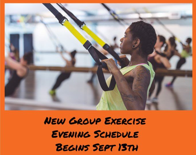 Group exercise schedule at Manhattan Plaza Health Club