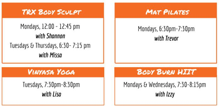 New Group Schedule at Manahattan Plaza Health Club